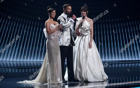 Roselyn Sanchez, Ricky Martin, Paz Vega. Roselyn Sanchez, from left, Ricky Martin and Paz Vega speak at the 20th Latin Grammy Awards, at the MGM Grand Garden Arena in Las Vegas