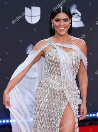 Francisca Lachapel arrives at the 20th Latin Grammy Awards, at the MGM Grand Garden Arena in Las Vegas