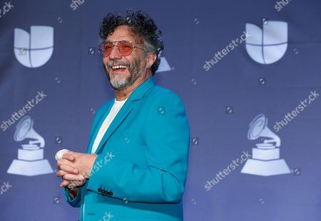 Fito Paez poses in the press room at the 20th Latin Grammy Awards, at the MGM Grand Garden Arena in Las Vegas