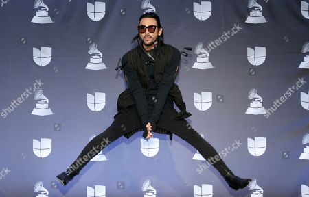Stock Image of Beto Cuevas poses in the press room at the 20th Latin Grammy Awards, at the MGM Grand Garden Arena in Las Vegas