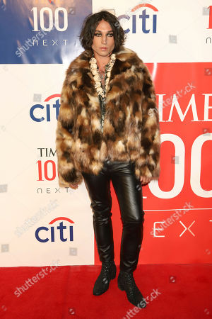 Ezra Miller attends the first annual TIME 100 Next event, celebrating 100 individuals who are shaping the future in their fields, at Pier 17, in New York