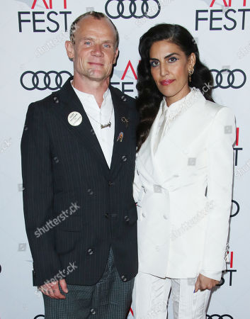 Stock Photo of Flea and wife Melody Ehsani