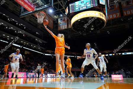 Stock Picture of Emily Saunders #31 of the Tennessee Lady Vols grabs a pass during the NCAA basketball game between the University of Tennessee Lady Volunteers and the Tennessee State University Lady Tigers at Thompson Boling Arena in Knoxville TN Tim Gangloff/CSM