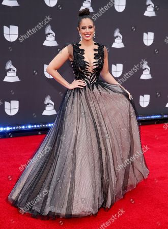 Aleyda Ortiz arrives at the 20th Latin Grammy Awards, at the MGM Grand Garden Arena in Las Vegas