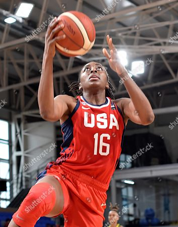 Nneka Ogwumike of USA during a Women's Olympic Pre-Qualifying Tournament Americas game between Brazil and USA, at Dow Center in Bahia Blanca, Argentina, 14 November 2019.