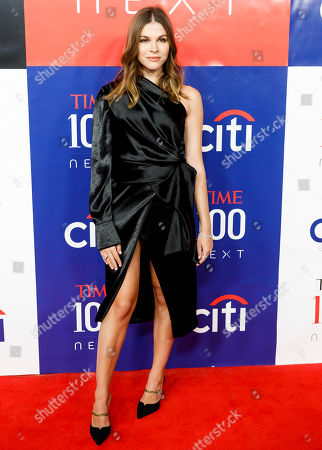 Emily Weiss, the CEO and founder of beauty company Glossier, arrives for the Time 100 Next event at Pier 17 in New York, New York, USA, 14 November 2019. The event was in conjunction with the Time 100 Next issue, which lists 100 people the magazine's editorial staff has identified as shaping the future of their fields.