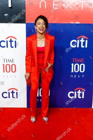 US YouTube star Liza Koshy arrives for the Time 100 Next event at Pier 17 in New York, New York, USA, 14 November 2019. The event was in conjunction with the Time 100 Next issue, which lists 100 people the magazine's editorial staff has identified as shaping the future of their fields.