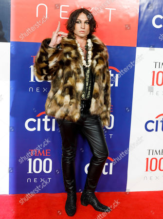 Ezra Miller arrives for the Time 100 Next event at Pier 17 in New York, New York, USA, 14 November 2019. The event was in conjunction with the Time 100 Next issue, which lists 100 people the magazine's editorial staff has identified as shaping the future of their fields.