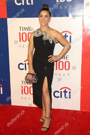 Alexandra Raisman attends the first annual TIME 100 Next event, celebrating 100 individuals who are shaping the future in their fields, at Pier 17, in New York