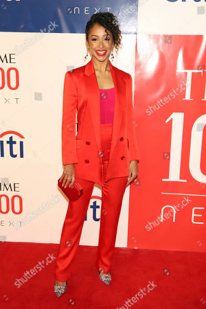 Stock Image of Liza Koshy attends the first annual TIME 100 Next event, celebrating 100 individuals who are shaping the future in their fields, at Pier 17, in New York