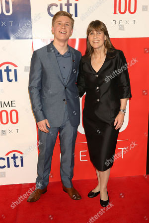 Stock Picture of Robert Irwin, Terri Irwin. Robert Irwin, left, and Terri Irwin attend the first annual TIME 100 Next event, celebrating 100 individuals who are shaping the future in their fields, at Pier 17, in New York