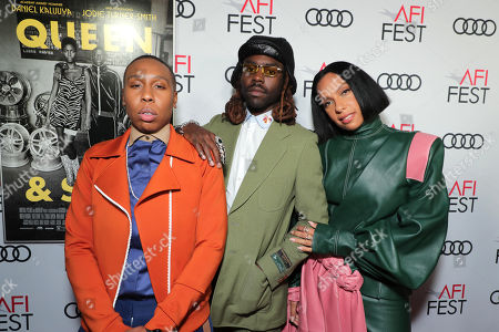 Lena Waithe, Writer/Producer, Dev Hynes, Composer, and Melina Matsoukas, Director/Producer, attend the QUEEN & SLIM World Premiere Gala Screening at AFI FEST 2019 in Hollywood, CA on Thursday, November 14, 2019.