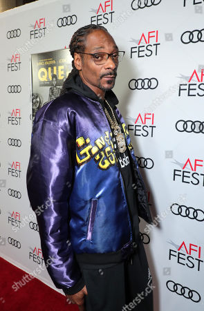 Snoop Dogg attends the QUEEN & SLIM World Premiere Gala Screening at AFI FEST 2019 in Hollywood, CA on Thursday, November 14, 2019.