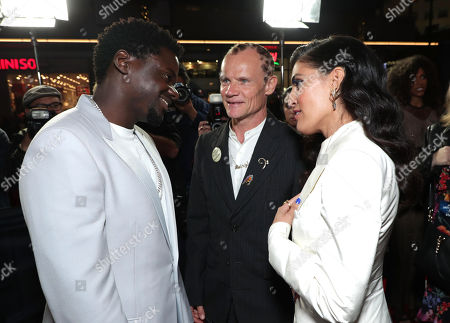 Stock Picture of Daniel Kaluuya, Flea and Melody Ehsani attend the QUEEN & SLIM World Premiere Gala Screening at AFI FEST 2019 in Hollywood, CA on Thursday, November 14, 2019.