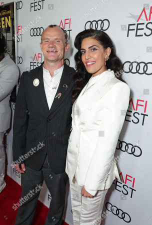 Flea and Melody Ehsani attend the QUEEN & SLIM World Premiere Gala Screening at AFI FEST 2019 in Hollywood, CA on Thursday, November 14, 2019.