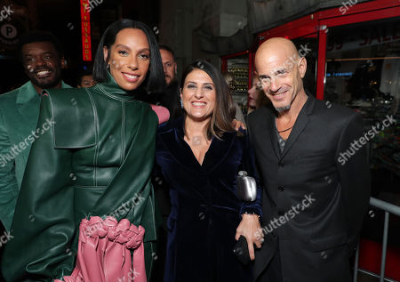Stock Image of Melina Matsoukas, Director/Producer, Pamela Abdy, Producer, and Brad Weston, Producer, attends the QUEEN & SLIM World Premiere Gala Screening at AFI FEST 2019 in Hollywood, CA on Thursday, November 14, 2019.