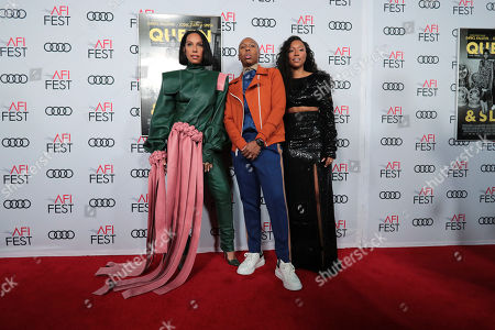 Melina Matsoukas, Director/Producer, Lena Waithe, Writer/Producer, and Shiona Turini, Costume Designer, attend the QUEEN & SLIM World Premiere Gala Screening at AFI FEST 2019 in Hollywood, CA on Thursday, November 14, 2019.