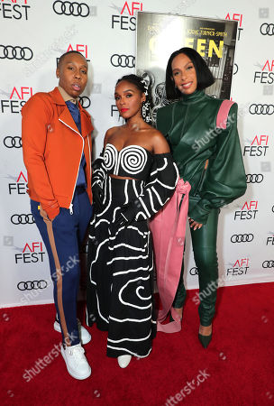Lena Waithe, Writer/Producer, Janelle Monae and Melina Matsoukas, Director/Producer, attend the QUEEN & SLIM World Premiere Gala Screening at AFI FEST 2019 in Hollywood, CA on Thursday, November 14, 2019.