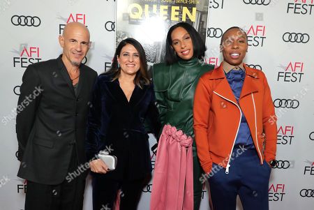 Stock Photo of Brad Weston, Producer, Pamela Abdy, Producer, Melina Matsoukas, Director/Producer, and Lena Waithe, Writer/Producer, attend the QUEEN & SLIM World Premiere Gala Screening at AFI FEST 2019 in Hollywood, CA on Thursday, November 14, 2019.