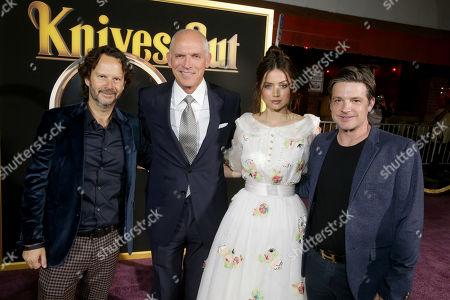 Ram Bergman, Producer, Joe Drake, Co-Chair, Lionsgate Motion Picture Group, Ana de Armas, Damon Wolf, President of Worldwide Marketing, Lionsgate Motion Picture Group,