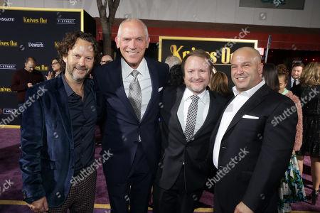 Ram Bergman, Producer, Joe Drake, Co-Chair, Lionsgate Motion Picture Group, Rian Johnson, Director/Writer/Producer, Nathan Kahane, President, Lionsgate Motion Picture Group,