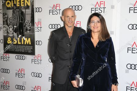 Stock Photo of US producers Brad Weston (L) and Pamela Abdy (R) arrive at the AFI Fest red carpet for the premiere of the movie 'Queen & Slim' at the TCL Chinese Theatre in Hollywood, Los Angeles, California, USA, 14 November 2019. The movie will be released in theaters on 27 November.