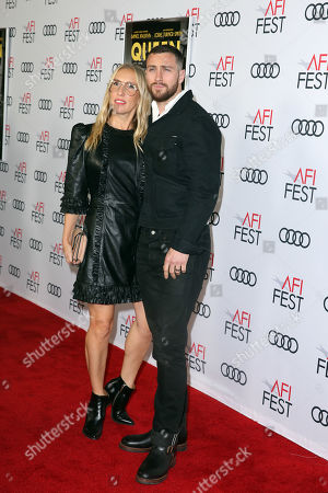 Sam Taylor-Johnson (L) and British actor Aaron Taylor-Johnson arrive at the AFI Fest red carpet for the premiere of the movie 'Queen & Slim' at the TCL Chinese Theatre in Hollywood, Los Angeles, California, USA, 14 November 2019. The movie will be released in theaters on 27 November.