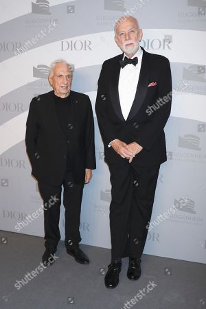 Stock Image of Frank Gehry and Richard Armstrong