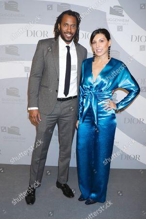 Stock Photo of Rashid Johnson and Sheree Hovsepian