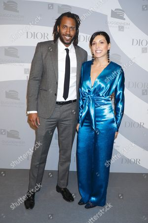 Stock Photo of Rashid Johnson and Sheree Hovsepian