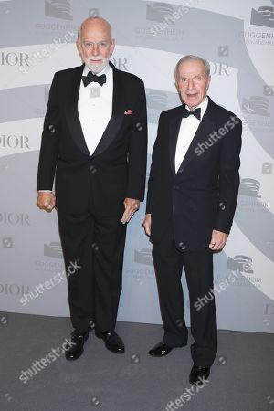 Stock Photo of Richard Armstrong and Charles Diker