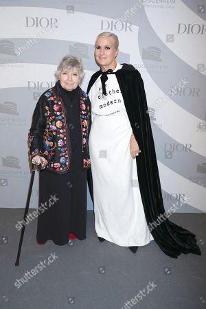 Stock Photo of Robin Morgan and Maria Grazia Chiuri