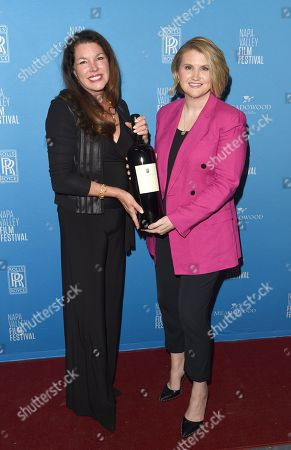 Jillian Bell receives the Alpha Omega 'Spotlight' award at the Celebrity Tributes during the Napa Valley Film Festival held at the Lincoln Theater, Yountville, CA @NapaFilmFest #NVFF19