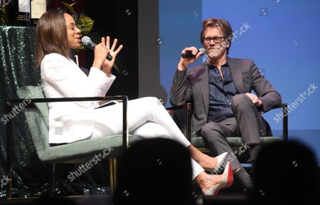 Kevin Bacon and Nischelle Turner attend the Celebrity Tributes during the Napa Valley Film Festival held at the Lincoln Theater, Yountville, CA @NapaFilmFest #NVFF19