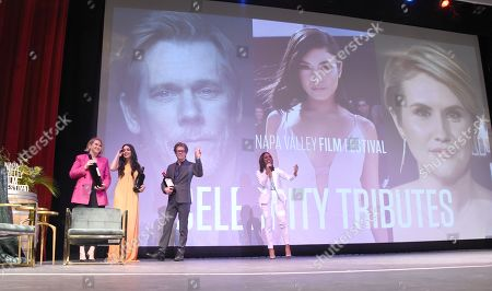 Kevin Bacon, Jillian Bell, and Vanessa Hudgens attend the Celebrity Tributes during the Napa Valley Film Festival held at the Lincoln Theater, Yountville, CA @NapaFilmFest #NVFF19