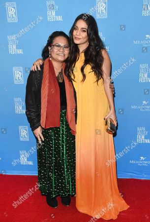 Vanessa Hudgens and mom Gina Guangco attend the Celebrity Tributes during the Napa Valley Film Festival held at the Lincoln Theater, Yountville, CA @NapaFilmFest #NVFF19