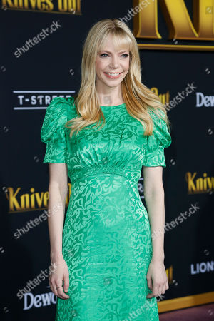 Riki Lindhome poses on the red carpet during the premiere of the movie 'Knives Out' at the Regency Village Theatre in Los Angeles, California, USA, 14 November 2019. The movie is set to be released in US theaters on 27 November.
