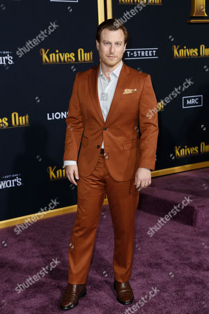 Noah Segan poses on the red carpet during the premiere of the movie 'Knives Out' at the Regency Village Theatre in Los Angeles, California, USA, 14 November 2019. The movie is set to be released in US theaters on 27 November.