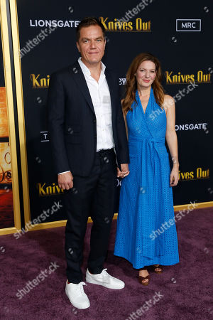 Michael Shannon (L) and Kate Arrington (R) pose on the red carpet during the premiere of the movie 'Knives Out' at the Regency Village Theatre in Los Angeles, California, USA, 14 November 2019. The movie is set to be released in US theaters on 27 November.