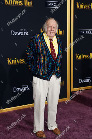 Stock Image of M. Emmet Walsh poses on the red carpet during the premiere of the movie 'Knives Out' at the Regency Village Theatre in Los Angeles, California, USA, 14 November 2019. The movie is set to be released in US theaters on 27 November.