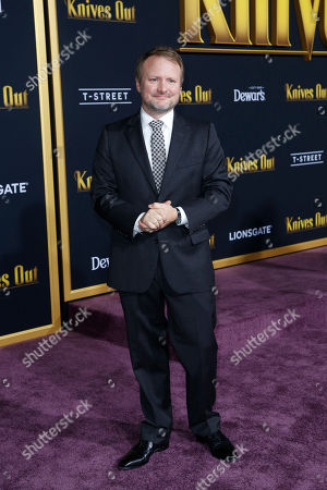 Rian Johnson poses on the red carpet during the premiere of the movie 'Knives Out' at the Regency Village Theatre in Los Angeles, California, USA, 14 November 2019. The movie is set tp be released in US theaters on 27 November.