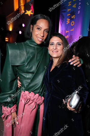 Stock Image of Melina Matsoukas, Director/Producer, and Pamela Abdy, Producer, attend the QUEEN & SLIM World Premiere Gala Screening at AFI FEST 2019 in Hollywood, CA on Thursday, November 14, 2019.