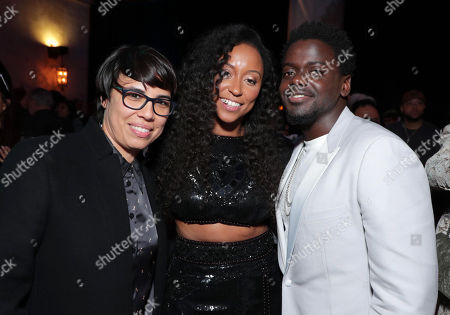 Michelle Knudsen, Producer, Shiona Turini, Costume Designer, and Daniel Kaluuya attend the QUEEN & SLIM World Premiere Gala Screening at AFI FEST 2019 in Hollywood, CA on Thursday, November 14, 2019.