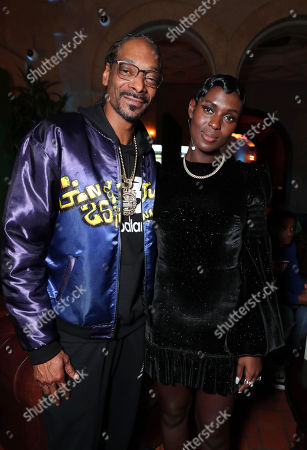 Snoop Dogg and Jodie Turner-Smith attend the QUEEN & SLIM World Premiere Gala Screening at AFI FEST 2019 in Hollywood, CA on Thursday, November 14, 2019.