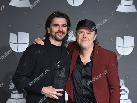 Juanes and Lars Ulrich