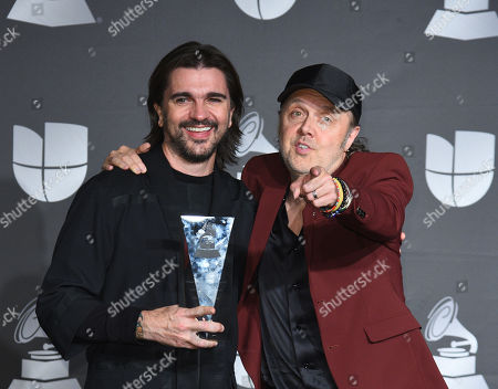 Stock Image of Juanes and Lars Ulrich