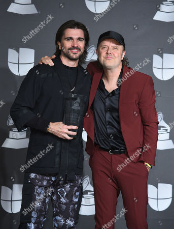 Stock Photo of Juanes and Lars Ulrich