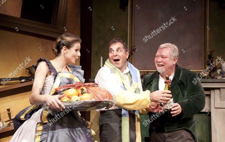 'A Christmas Carol' - Rebecca Thornhill (Mrs Cratchit), Michael Matus (Bob Cratchit), Gareth Hale (Scrooge)