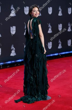 Stock Picture of Angela Aguilar arrives at the 20th Latin Grammy Awards, at the MGM Grand Garden Arena in Las Vegas