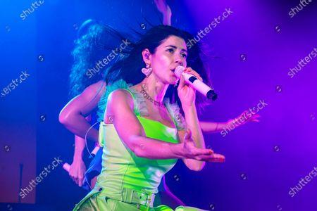 Editorial image of Marina Diamandis in concert at Fabrique, Milan, Italy - 14 Nov 2019